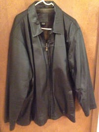 MENS leather jacket sz XL DARK BROWN