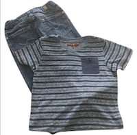 7 For All Mankind Stripes Tee + Jeans Set . Size 4T Oakville, L6L 0E8