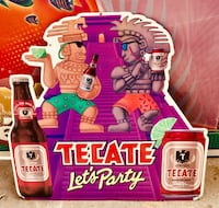 """""""TECATE"""" ( Let's Party ) """"RARE"""" Metal Beer Sign ($25) Authentic Beer Signs Not Reproductions!! Merced, 95341"""