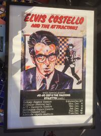 Elvis Costello framed artwork 21x29 ready for display Los Angeles, 90069