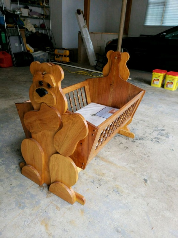 Used Never Used Handmade Wood Children Bedcraddle For Sale In