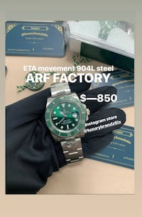 Rolex submariner R./E./P./L./I./c./A Rolex hulk submariner men's watch Automatic Watch Swiss Watch  Toronto, M5A 2H2