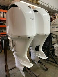 PAIR OF YAMAHA F350 HP OUTBOARD MOTORS WITH FACTORY WARRANTY