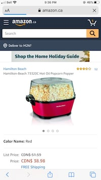Small Kitchen Appliances - Popcorn Maker, Toaster and Kettle Toronto, M2R 1R7