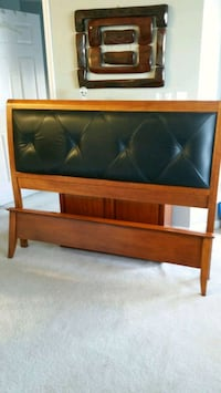 Queen size wood and leather headboard North Bethesda, 20852