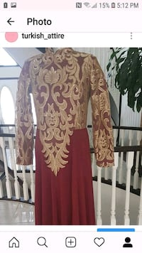 women's red and brown long sleeve dress Edmonton, T5Z