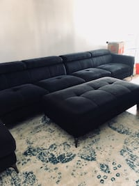 Negotiable huge sectional with bed ottoman with storage dark blue  Sunny Isles Beach, 33160