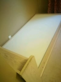 white and brown wooden bed frame London, N6G 3L5