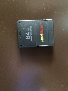 black 64 gb Memory card red gear