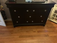 Black Solid wood tongue and groove dresser  Belmar, 07719