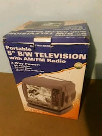 5'' black and white television with radio