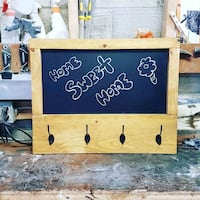 Custom made decorative hanger with chalkboard  Toronto, M6G 1C2