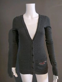 ***WOMEN'S XS GREY HOLLISTER SWEATER JACKET!*** Dallas