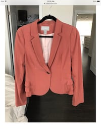 Rose colored blazer with flirty frills  Newmarket, L3X 0J4