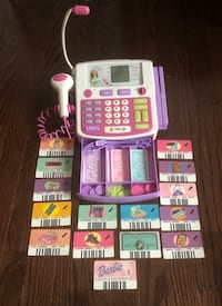 Gently Used Barbie Cash Register with Barbie Play Money & Shopping Cards 564 km