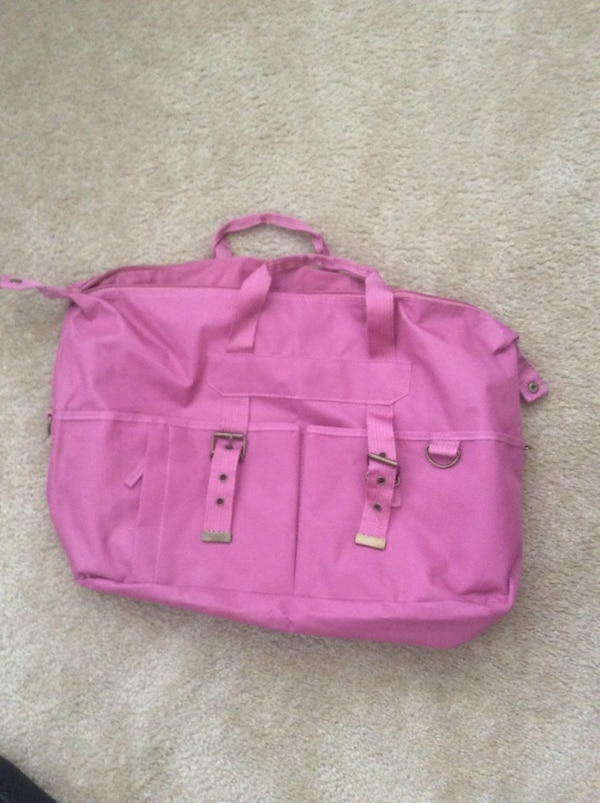 Pink Nylon Material Overnight/ Light weight medium size tote bag