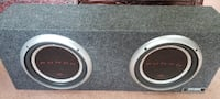 Kenwood Amp and 2 10in Punch P1 Subwoofers in box Baltimore
