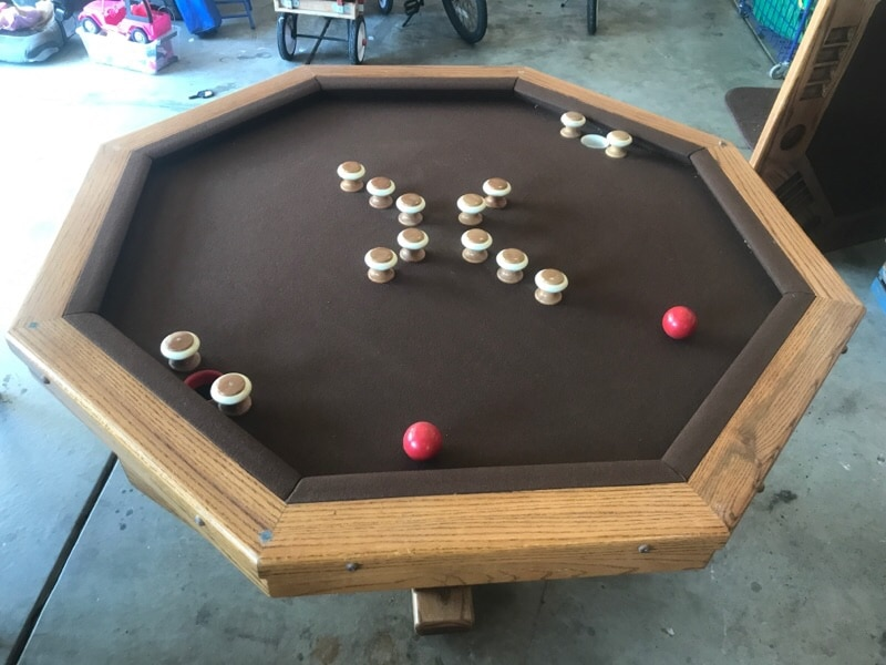 ACME Bumper Pool Table With Poker Table Top