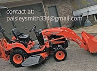 "2011 Kubota Bx25 23hp Diesel With Loader, 54"" Belly Mower and Bachhoe  NORFOLK"