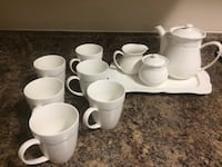 Tea Set with platter sugar and cream and 6 tea cups.This is a Avon product worth close to $80 Mississauga, L5L 5S1