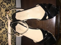Prada black leather open-toe ankle strap heels 1150 mi