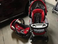 Chicco Red Stroller Car seat travel system