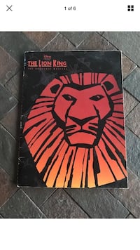 The lion king broadway musical with ticket sub 1997
