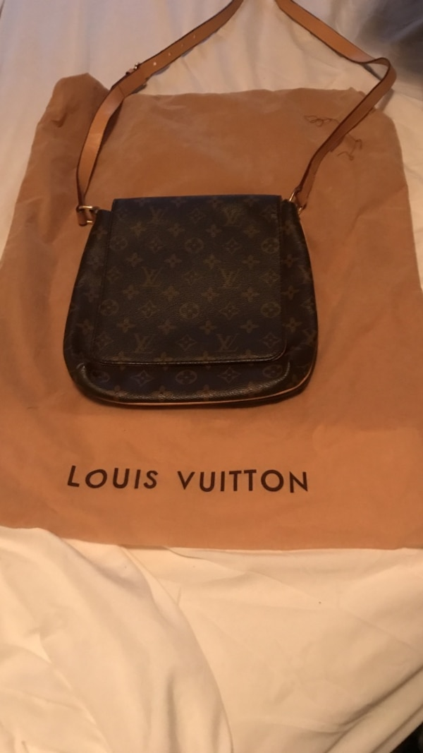 8da2e8abd172f0 Used Brown Louis Vuitton leather sling bag for sale in Slidell - letgo