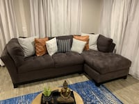 Gray Microfiber Left chaise sectional Miami, 33186