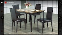 Dinning room table and chairs furniture  Hamilton, L8W 3A1