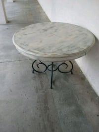 Metal framed wooden table Athens, 30601