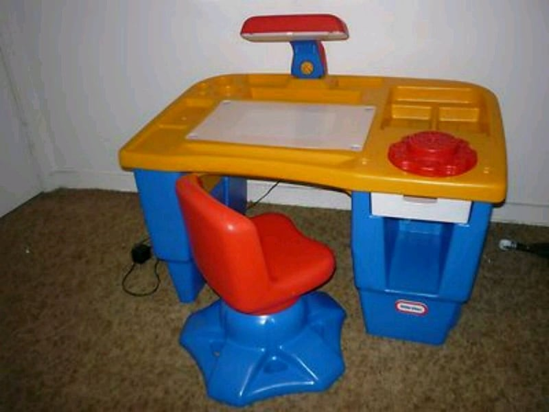Used Little Tikes Desk With Light And