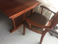 brown wooden table with chair Irving, 75061