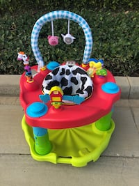 EVENFLO EXERSAUCER MOOVIN & GROOVIN ACTIVITY CENTER BOUNCE JUMPER BABY BOY GIRL ANIMALS