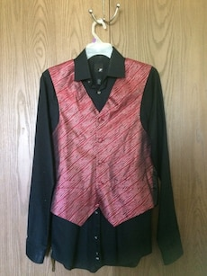 Men's vest size small matching shirt, hanky, and tie included.