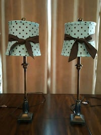 two blue and brown table lamps Peoria, 85383