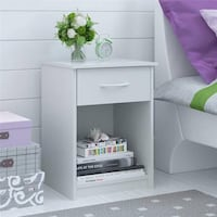 White Set of 2 Night Stands with Drawer (Clearance Sale!)