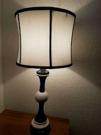 black and white table lamp Miramar, 33027