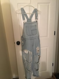 Fashion Nova boyfriend fit overalls size small Frederick