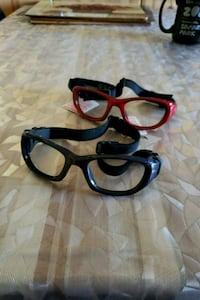 Dark blue  and red style sports sunglasses