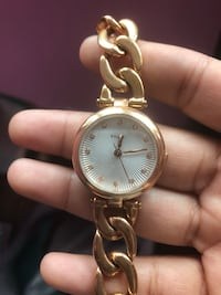 Rose gold fossil chain watch Whitby, L1R