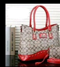 red and white Coach monogram shoulder bag Tuscaloosa, 35405