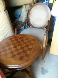 Custom gaming table and chair