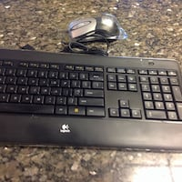 Gray and black Hp printer, mouse and wireless keyboard Alexandria, 22306