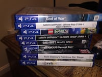 assorted Sony PS4 game cases Capitol Heights, 20743