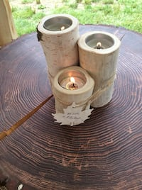 Three pillar birch log candles Chilliwack, V2R 1P3