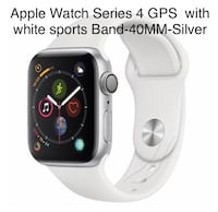 Silver aluminum case apple watch with white sport band Hagerstown, 21740