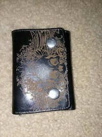 black and brown floral leather bi-fold wallet Fairfax, 22030