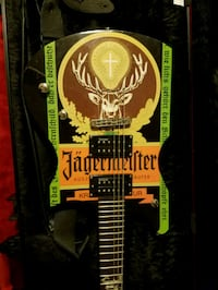 Jagermeister Schecter Guitar with Hard-case and strap