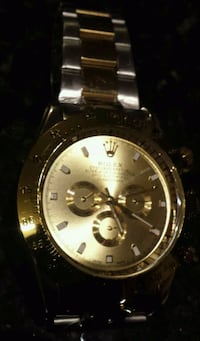 round silver-colored Rolex chronograph watch with link bracelet Toronto, M8Z 1R5